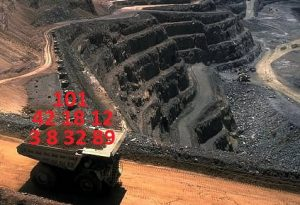 Mining truck carrying data.