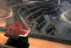 Mining truck carrying data.