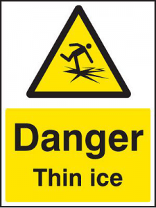 Danger Thin Ice sign