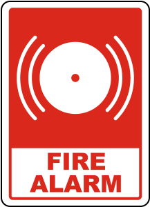 Sign that says fire alarm.