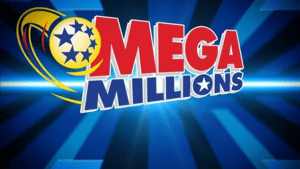 Mega millions jackpot lottery logo to illustrate the concept of luck.