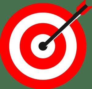 Dartboard representing accuracy and precision.