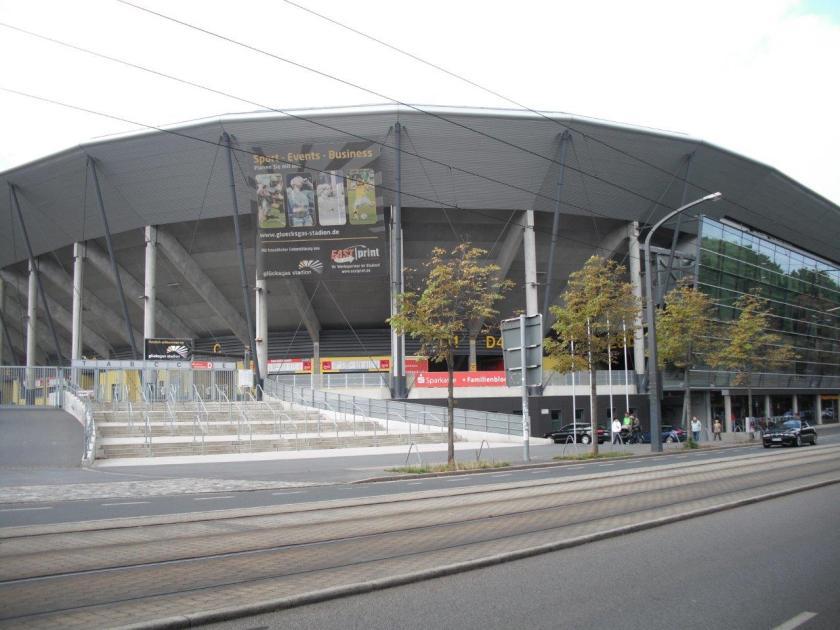Blick aufs Glücksgasstadion, Dresden