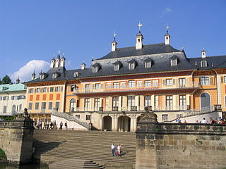 Schloss Pillnitz, Flussseite, Dresden