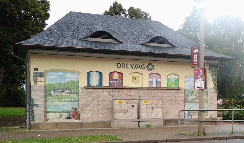DREWAG-Häuschen an der Tornaer Straße / Hülßestraße