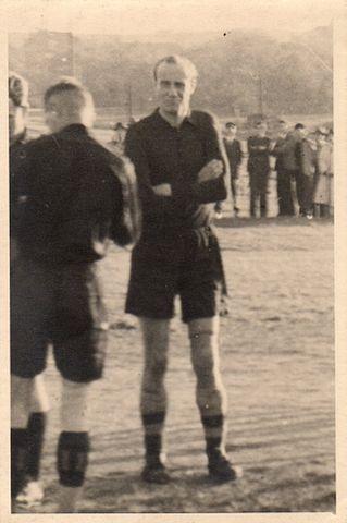 Helmut Schön bei einem Spiel der SG Dresden-Friedrichstadt 1946