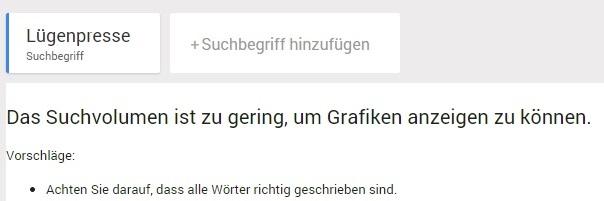 """""""Lügenpresse"""": zu geringes Google-Suchvolumen"""