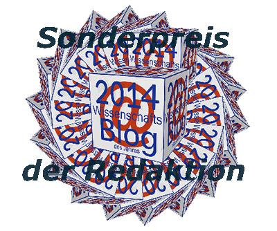 Sonderpreis Wissenschaftsblog 2014