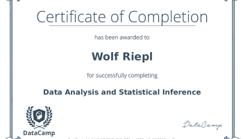 Data Analysis and Statistical Inference