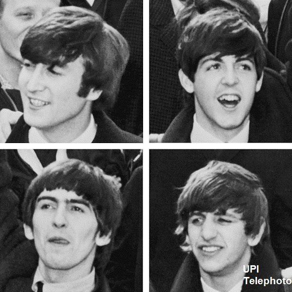 The Beatles: UPI Telephoto