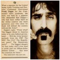 Frank Zappa on American Danger