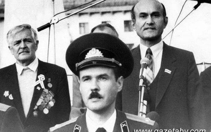 Пісьменнік Артур Вольскі, вайсковец Мікалай Бірукоў, Зянон Пазняк.