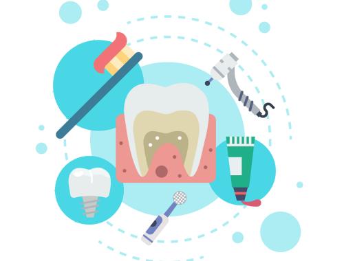 Dentini, spazzolino e dentifricio per bambini