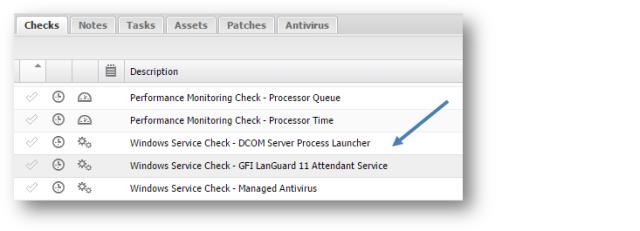 vulnerability service check