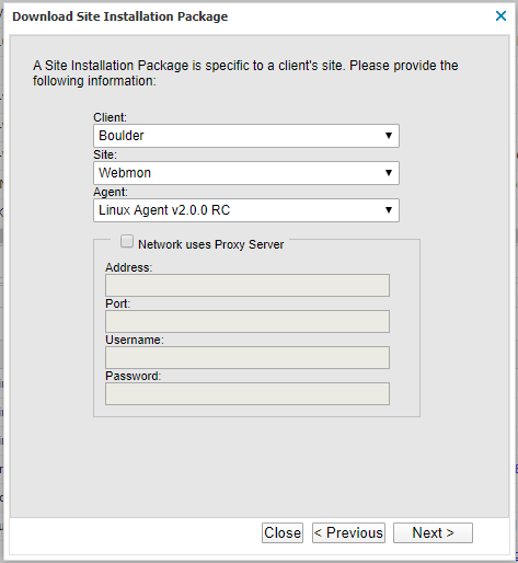 linux site installation