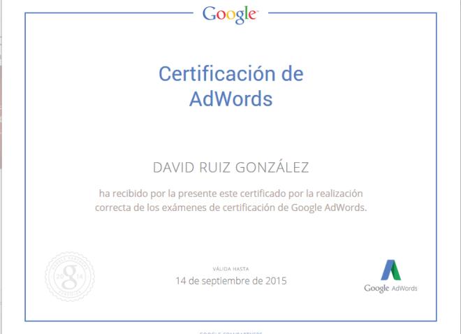 Certificación AdWords