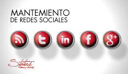 Mantenimiento redes sociales y blog