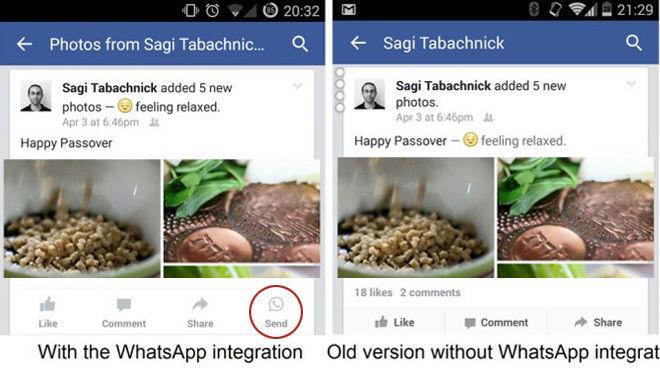 Botón de WhatsApp para Facebook