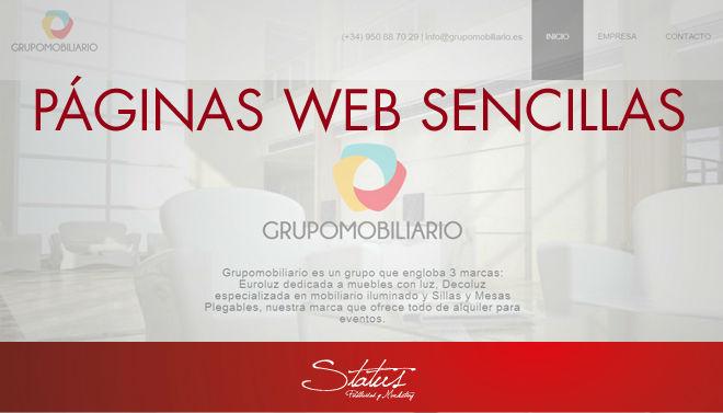 Páginas web sencillas