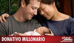 Donativo millonario Mark Zuckerberg