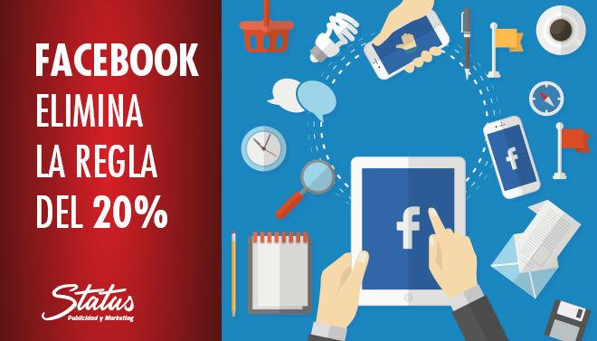 Facebook elimina la regla de texto en anuncios