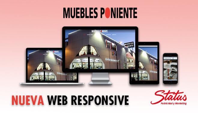 Diseño web Muebles Poniente