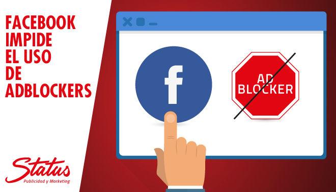 Facebook impide el uso de AdBlockers