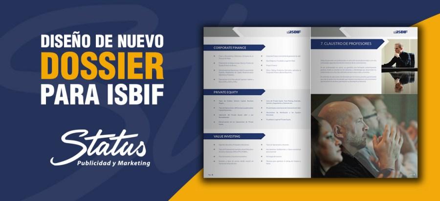 Diseño dossier de ISBIF