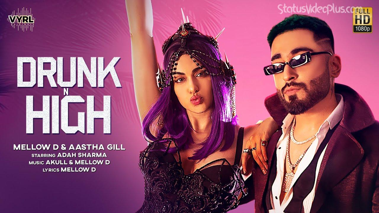 Drunk N High Song Mellow D Aastha Gill Download Status