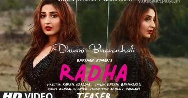 Radha Song Dhvani Bhanushali Download Whatsapp Status