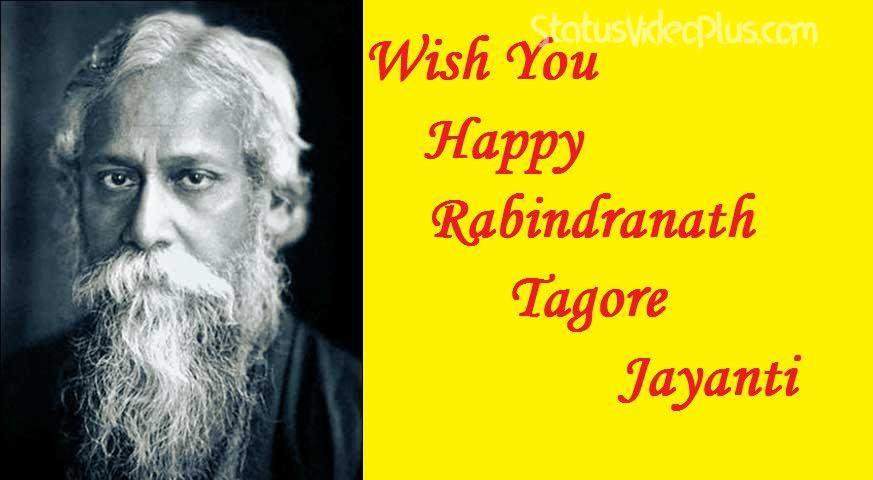 Happy Rabindranath Tagore Jayanti Download Whatsapp Status Video