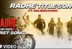 Radhe Title Track Song Salman Khan Download Status Video