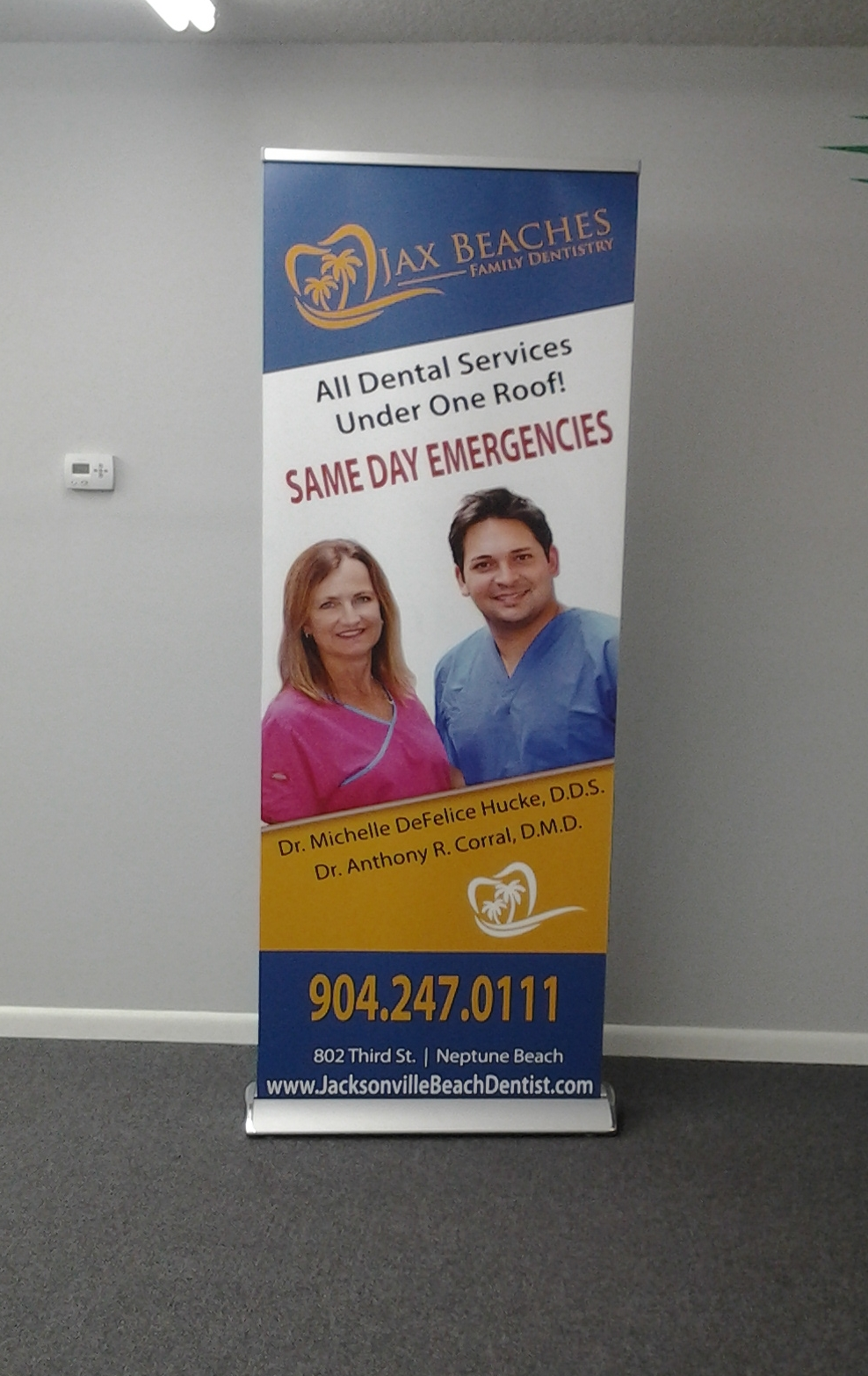 jax beaches family dentisty stand up banner