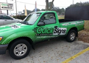 quick signs truck wrap