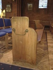 The old pews and new chairs!