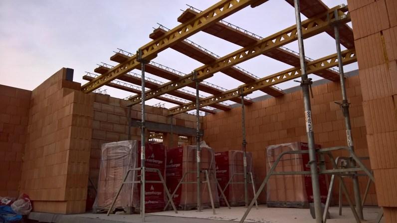 Budování stropní konstrukce