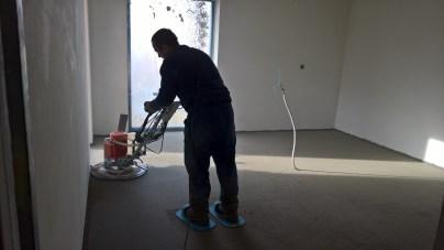 Gletování betonové podlahy