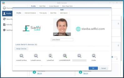 Správa uživatelského profilu v Safe Access