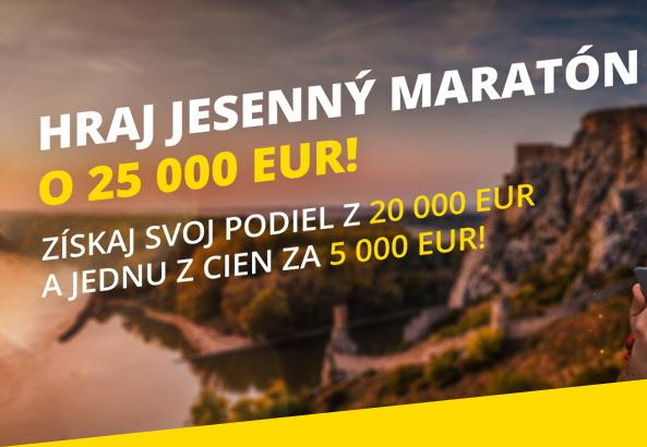 Fortuna ponúka Jesenný maratón o fantastických €25,000!