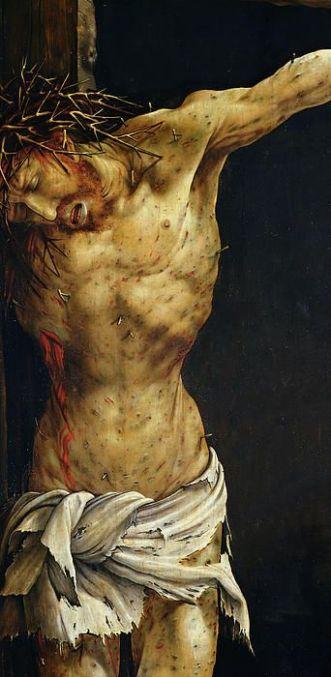 Matthias Grunewald, The Crucifixion (detail), 1515