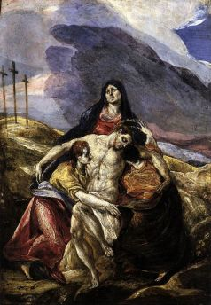Pietà (The Lamentation of Christ), by El Greco. c1571-1576.