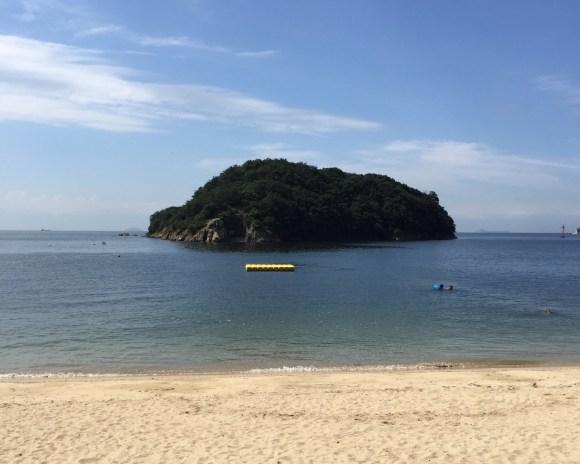 仙酔島の海水浴場
