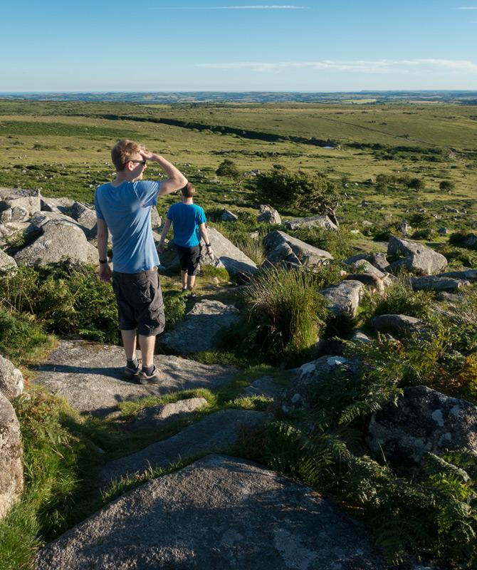 Looking over Bodmin Moor