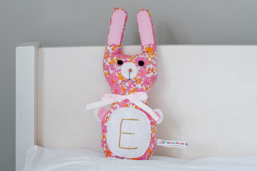 Retro floral bunny toy