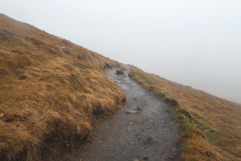 Steep mountain trail