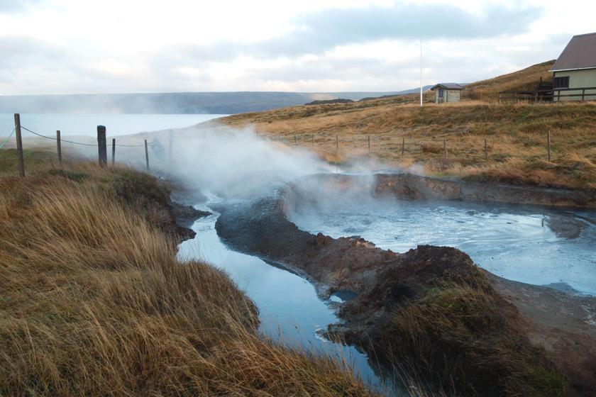 Steam on landscape