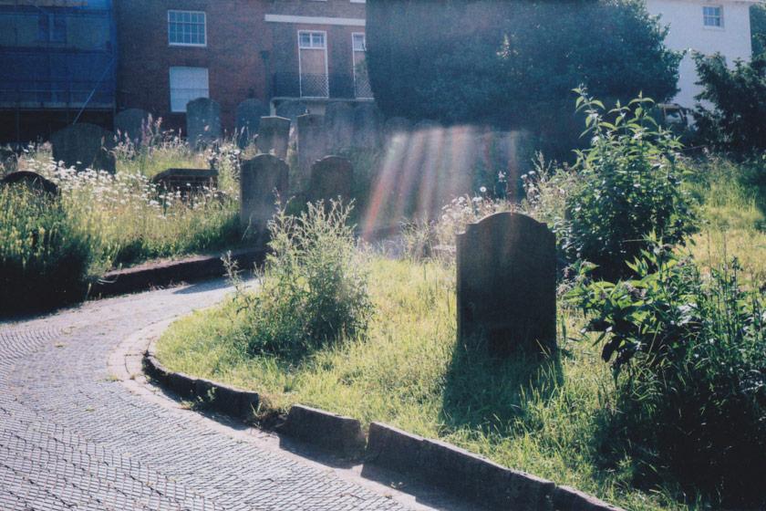 Light leak over gravestone