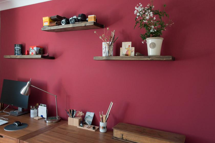 Desks and shelves