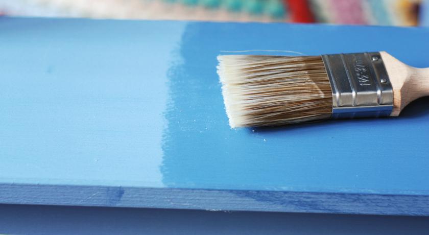 Autentico wax applied over chalk paint