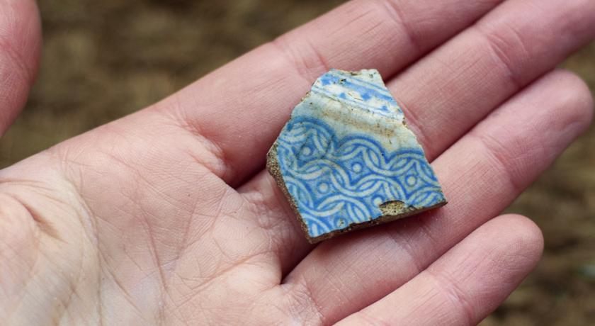 Broken pottery from the garden